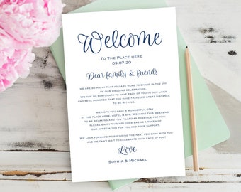 navy blue printable wedding itinerary welcome bag welcome letter wedding welcome note printable thank you templates diy tos_119