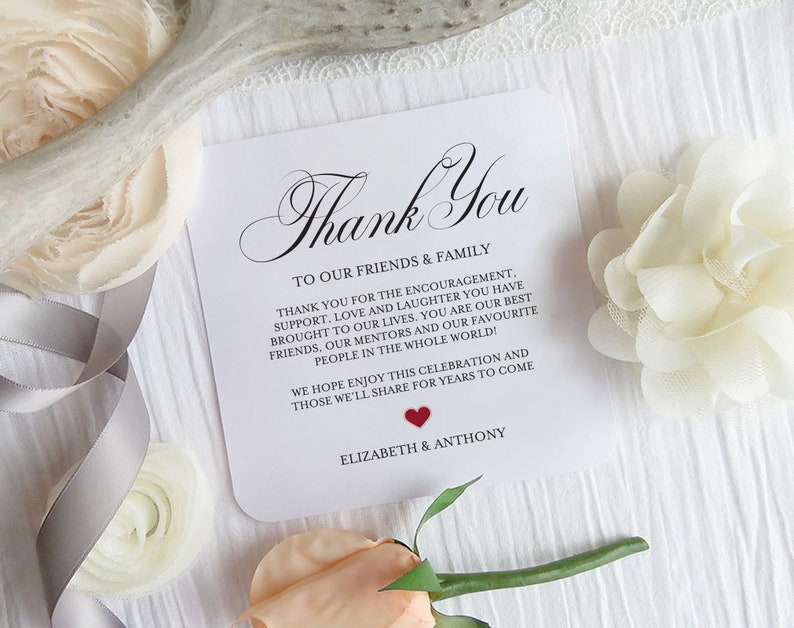 Wedding Table Thank You Card Printable Thank You Letter Template Editable Welcome Thank You Note Welcome Note Wedding Template,TOS/_209