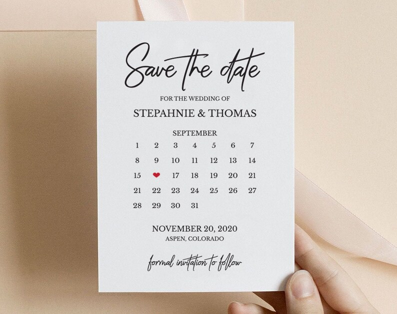 TOS/_342 Save The Date Calendar Digital Download Save The Date Postcard Save The Date Cards Save The Dates Save The Date Template