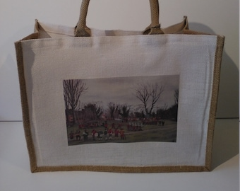 Battle of Nantwich jute shopper bag featuring artwork by Christian Turner