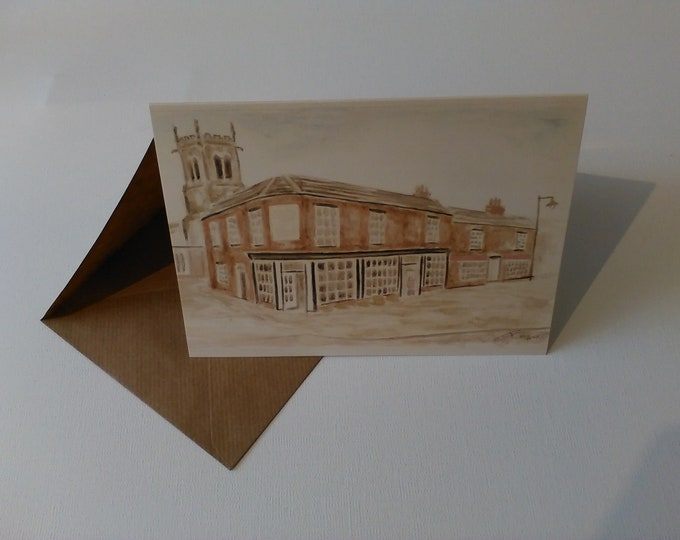 Godfrey C Williams & Son (Watercolour) - Greeting Card with Envelope in Cellophane Wrapping