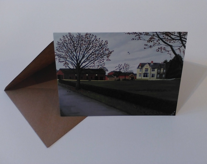 Wheelock Hall Farm - Greeting Card with Envelope in Cellophane Wrapping