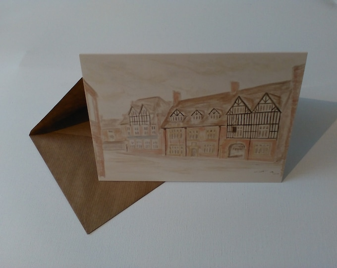 The Wheatsheaf (Watercolour) - Greeting Card with Envelope in Cellophane Wrapping
