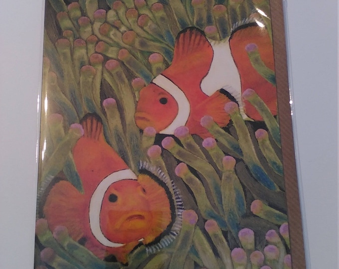 Clownfish - Greeting Card with Envelope in Cellophane Wrapping
