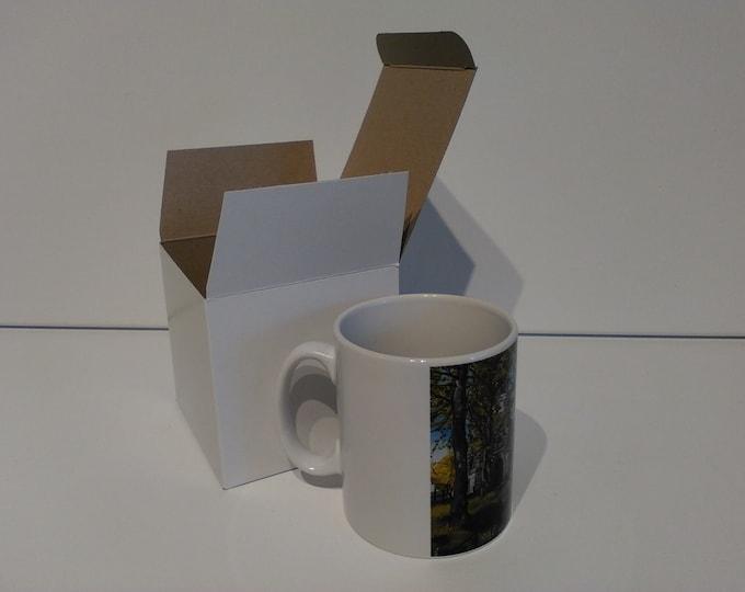 Sandbach Church ceramic drinking mug featuring artwork by Christian Turner