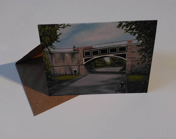 Nantwich Aqueduct - Greeting Card with Envelope in Cellophane Wrapping