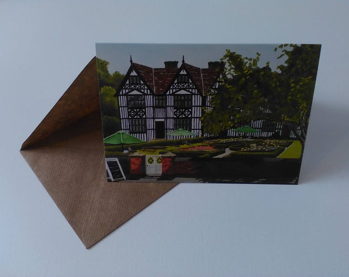 The Old Hall - Greeting Card with Envelope in Cellophane Wrapping