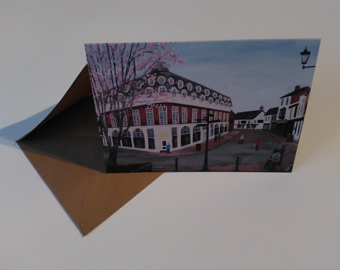 Pillory Street, Nantwich - Greeting Card with Envelope in Cellophane Wrapping