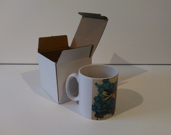 Geometric Turtle ceramic drinking mug featuring artwork by Christian Turner