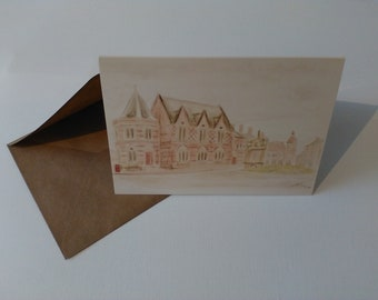 Sandbach Literary Institute (Watercolour) - Greeting Card with Envelope in Cellophane Wrapping