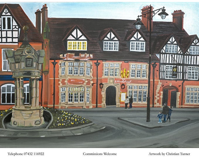 The Wheatsheaf - original oil painting on linen canvas by Christian Turner