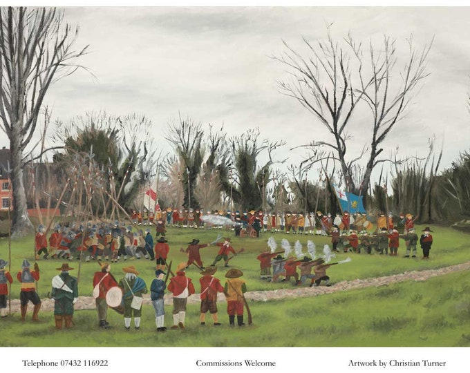 Battle of Nantwich - original oil painting on linen canvas by Christian Turner