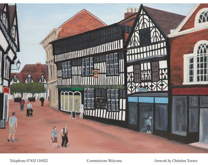 The Crown Hotel - original oil painting on linen canvas by Christian Turner