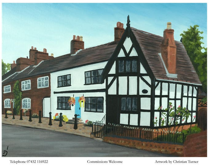 Well Bank, Sandbach - original oil painting on linen canvas by Christian Turner