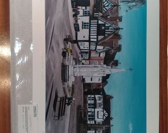 Sandbach Cobbles - Limited Edition Giclee print of painting by Christian Turner