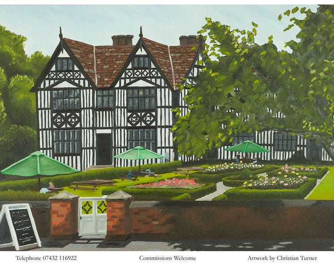 The Old Hall - original oil painting on stretched linen canvas by Christian Turner