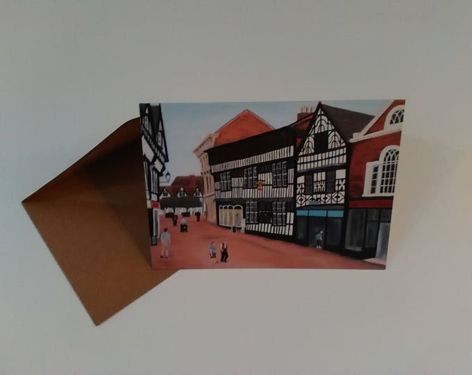 The Crown Hotel - Greeting Card with Envelope in Cellophane Wrapping