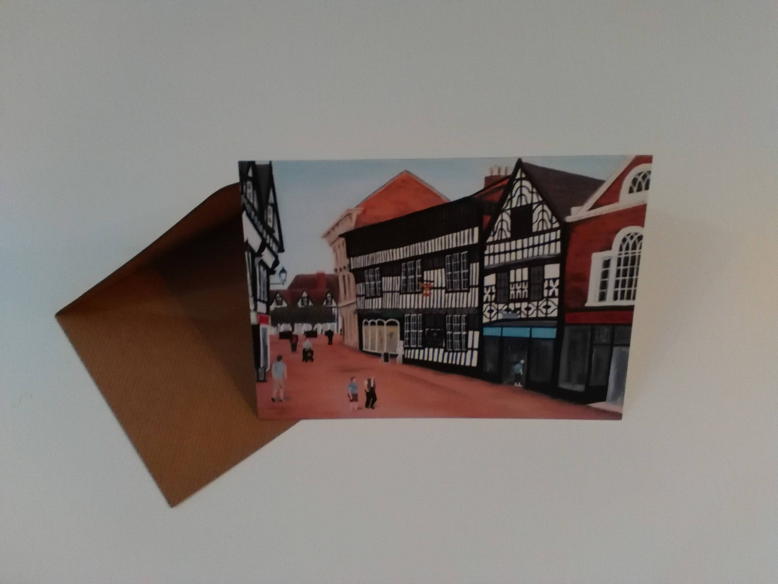The crown hotel greeting card with envelope in cellophane wrapping m4hsunfo