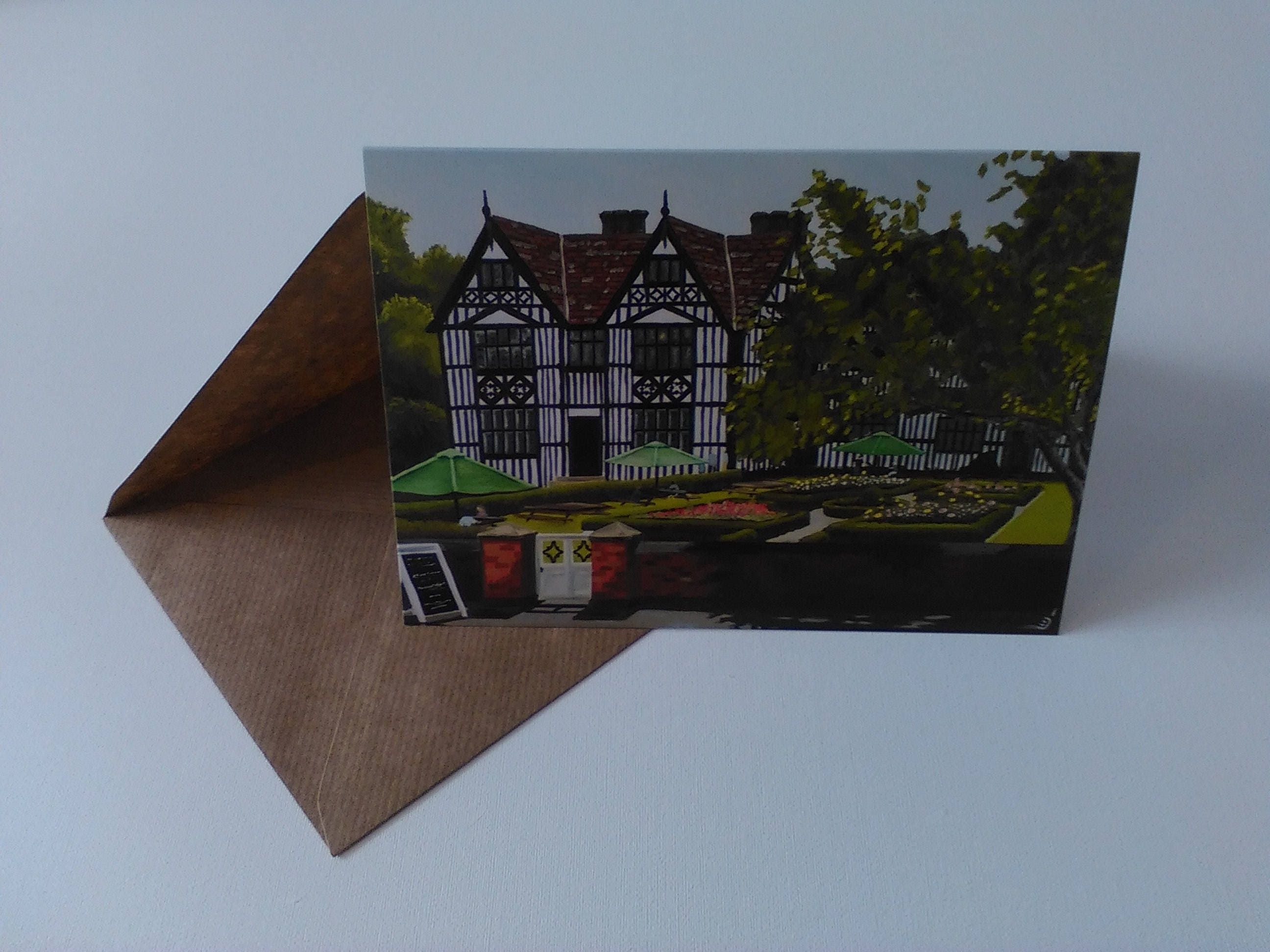 The old hall greeting card with envelope in cellophane wrapping m4hsunfo