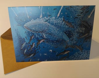 The Sardine Run - Greeting Card with Envelope in Cellophane Wrapping