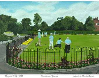 Sandbach Park - original oil painting on linen canvas by Christian Turner