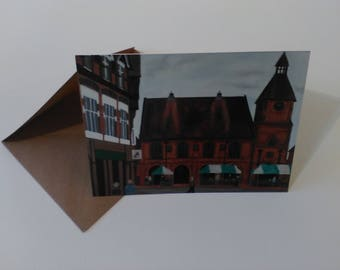 Sandbach Town Hall - Greeting Card with Envelope in Cellophane Wrapping