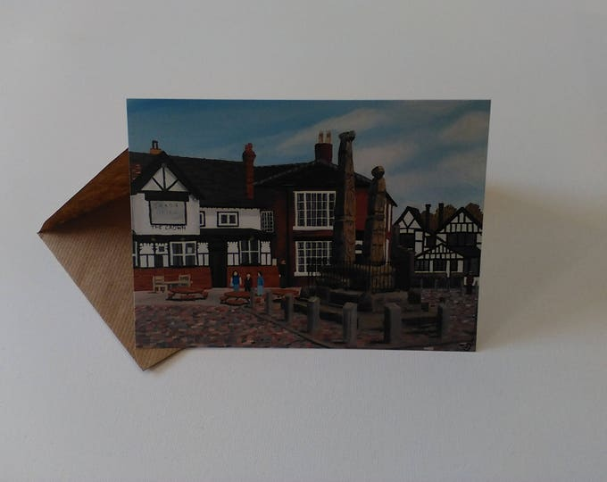 Sandbach Crosses - Greeting Card with Envelope in Cellophane Wrapping