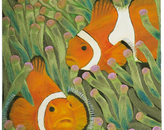 Angry Fish - original oil painting on box canvas by Christian Turner