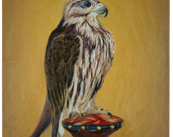 Falcon - original oil painting on box canvas by Christian Turner