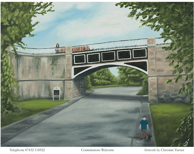 Nantwich Aqueduct - original oil painting on linen canvas by Christian Turner