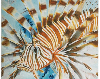 Lionfish - original oil painting on box canvas by Christian Turner