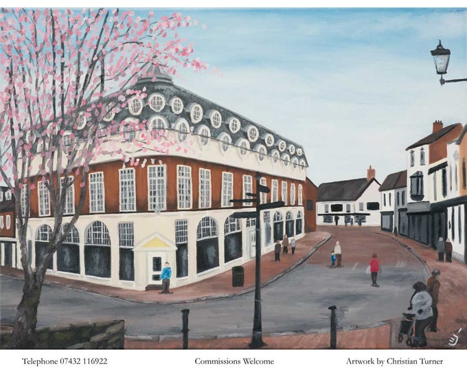 Pillory Street, Nantwich - original oil painting on linen canvas by Christian Turner