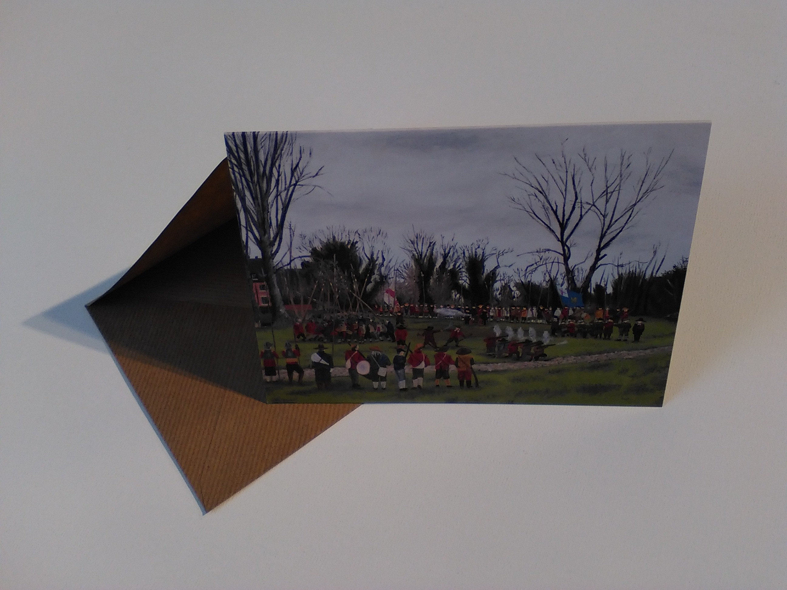 Battle of nantwich greeting card with envelope in cellophane wrapping m4hsunfo
