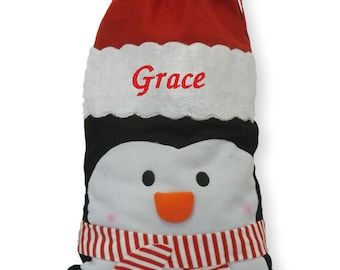 Luxury Personalised Embroidered Christmas Jumbo Xmas Character Santa Sacks