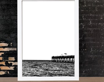 Coast Wall Art - Landscape Photography - Ocean Print - Black and White