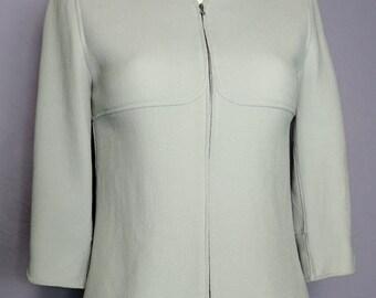 Vintage COURREGES Paris Wool Crepe Jacket 3 4 Sleeve UK 10 d72de4e03