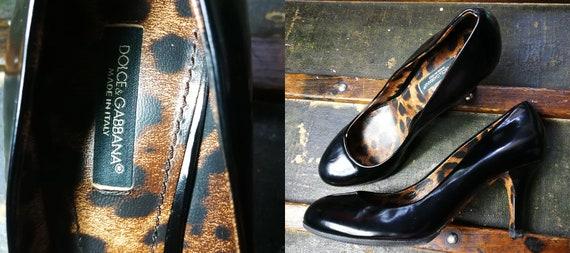 2f50c23865b57 Beautiful DOLCE   GABBANA Black Patent Leather Pumps Heels Eu