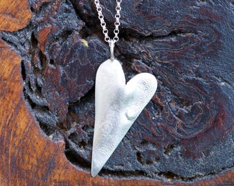 Textured Heart Pendant.