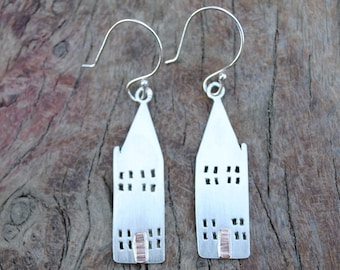 Large House Earrings.