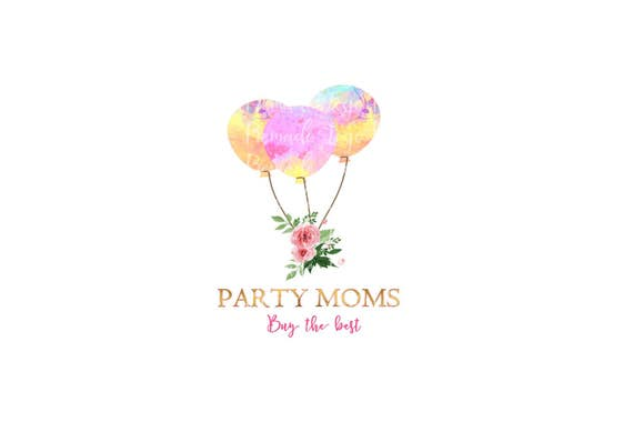 party logo balloons logo balloon logo fiesta logo party etsy etsy