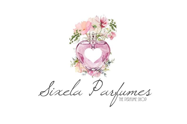 Bottle Logo Perfume Logo Floral Heart Logo Heart Logo Etsy