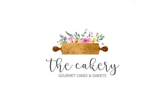 gelbes kuchendesign logos, bäckerei-logo / roller-logo / logo-kuchen / backen logo /   etsy, Design ideen