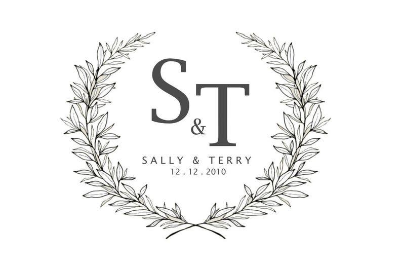 b2e7494d54 Logo del monogramma / iniziali Logo / nome Logo / matrimonio | Etsy