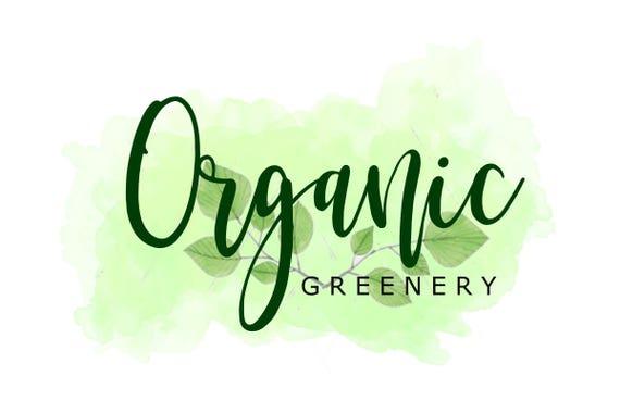 Organic Logo Healthy Logo Green Foods Logo Market Logo Etsy
