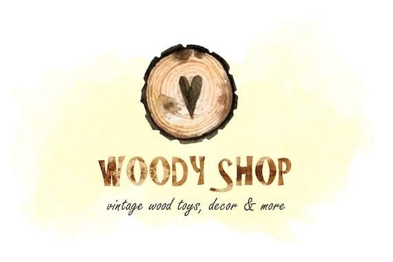 Wood Logo Woodworking Crafts Wooden Craft Logo Wooden Etsy