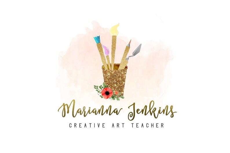 Art Logo Artist Logo Painting Logo Painter Logo Paints Etsy