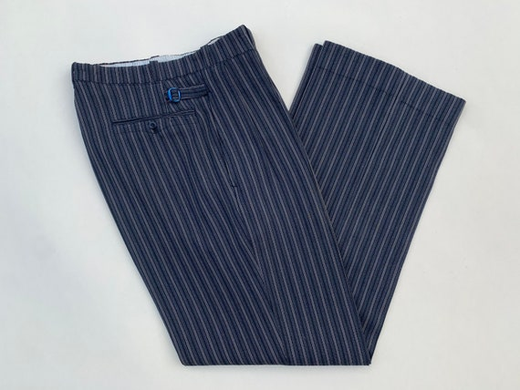 1930s high waist pleated French woolen trousers wi