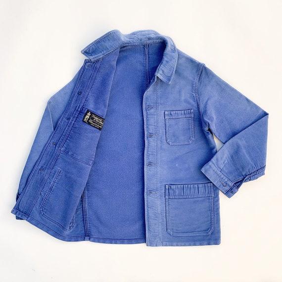 1960s French moleskin work jacket / chore jacket m