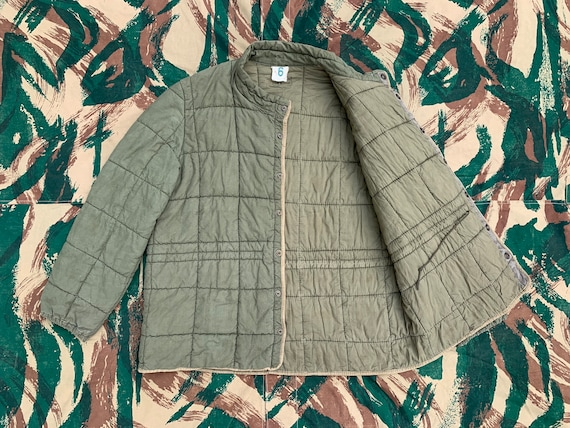 1950s first type French army quilted jacket  down