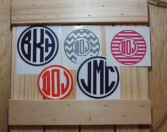 Three Letter Circle Monograms
